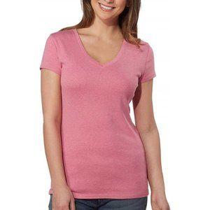 NEW Kirkland Signature Cotton Pink V-Neck Tee